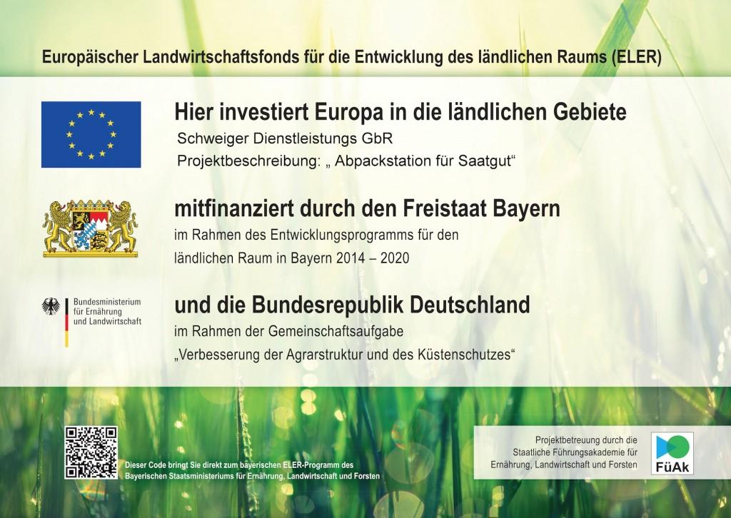ELER - Schweiger Dienstleistungs GbR Abpackstation für Saatgut